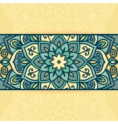 Abstract round ornamental vector image vector image
