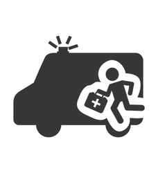 ambulance with medical icon vector image