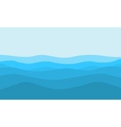 flat of hill on blue background landscape vector image