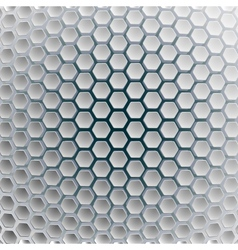 Hexagons on a white blue background vector