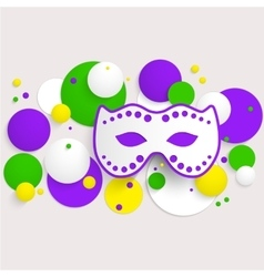 Mardi Gras party poster design Template of poster vector image