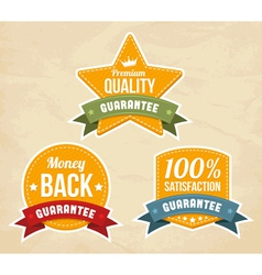 Retro guarantee labels vector image