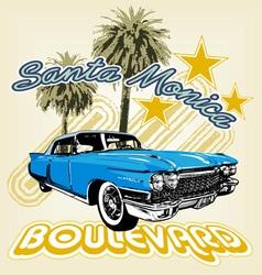 Santa Monica boulevard vector image vector image
