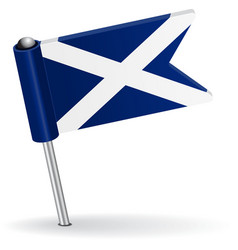 Scottish pin icon flag vector image vector image