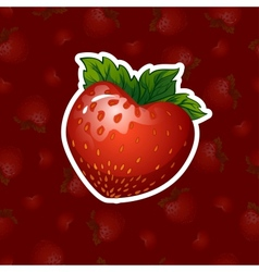 strawberries in a heart shape vector image