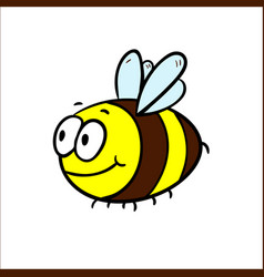 a friendly cute bee flying and vector image vector image