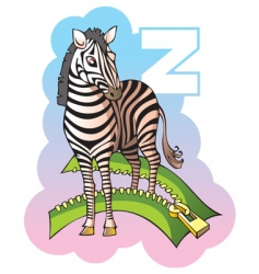 children alphabet letter z vector image vector image