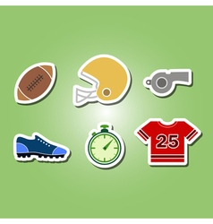 color set with american football icons vector image vector image