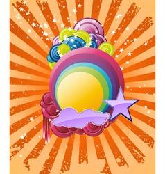 discotheque rainbow vector image vector image