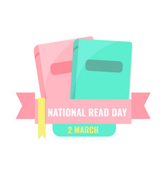 National read day and world book day banner vector
