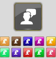 People talking icon sign Set with eleven colored vector image