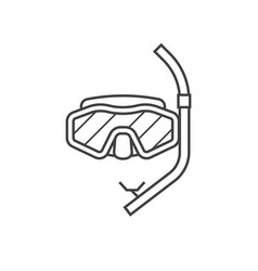 scuba diving mask icon vector image