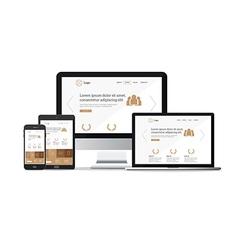 website responsive template vector image