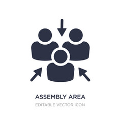 Assembly area icon on white background simple vector