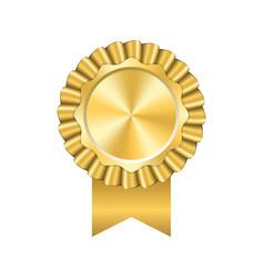 award ribbon gold icon golden medal design vector image