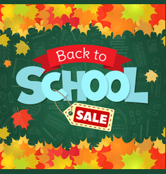 back to school sale vector image
