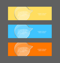 banner with glass element vector image
