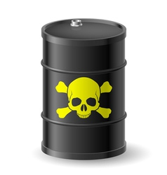 Barrel with poisonous substances vector image