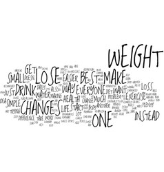 Best way to lose weight text background word vector