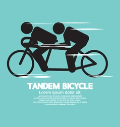 Black Symbol Tandem Bicycle vector