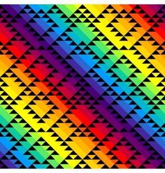 Black triangles on rainbow background vector