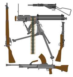 British guns of world war ii vector