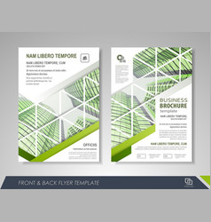 Business brochure annual report vector