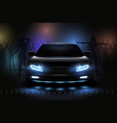 car show lights composition vector image