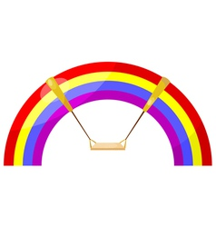 Cartoon rainbow swing eps10 vector image