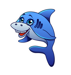 cartoon shark isolated vector image