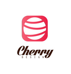 cherry design creative logo template can be used vector image