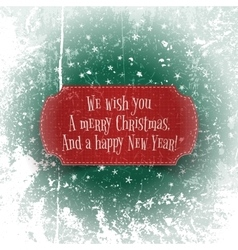 Christmas and happy New Year red greeting Banner vector image