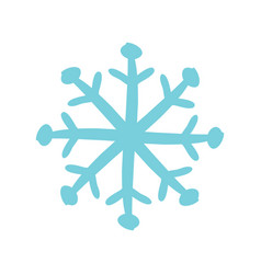 christmas snow icon symbol vector image