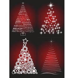 Christmas tree set vector image