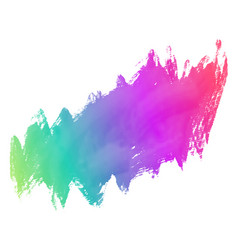 Colorful grunge paint stroke background vector