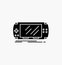 console device game gaming psp glyph icon isolated vector image