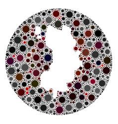 coronavirus hole round koh tao map mosaic vector image