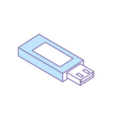 Data usb memory to save documents vector