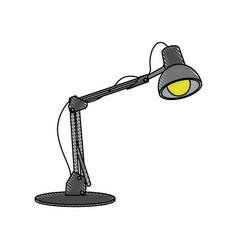 desk lamp light bulb electric device image vector image