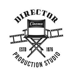 Director chair emblem label badge or logo vector