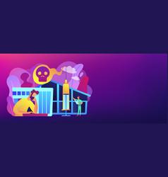 drug rehab center concept banner header vector image