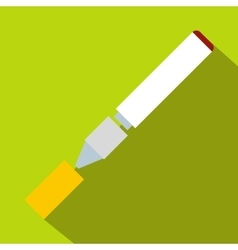 Electronic cigarette icon flat style vector image