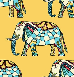 elephants in Indian style vector image
