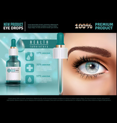 eye drops realistic advertising poster vector image