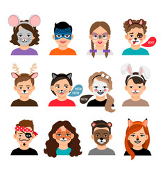 face painting kids vector image