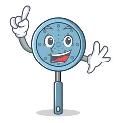 Finger skimmer utensil character cartoon vector