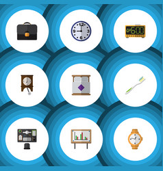 Flat icon lifestyle set of electric alarm timer vector