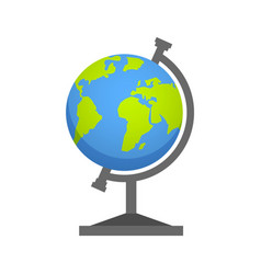 Flat line earth globe icon vector