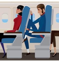 Flight in economy class vector