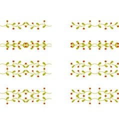 Floral branch elements vector